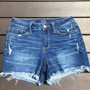 a.n.a Frayed Cutoff Blue Jean Denim Shorts